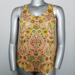 H&M Conscious Tank Top Neon Floral Round Scoop NEW